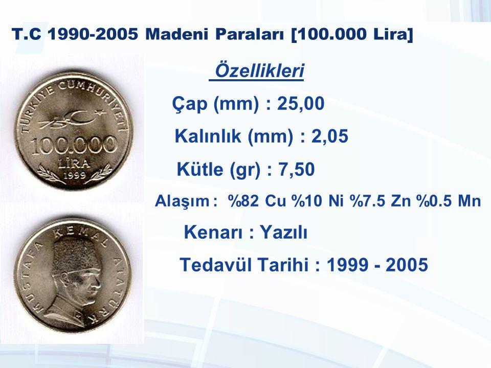 T.C 1990-2005 Madeni Paraları [100.000 Lira]